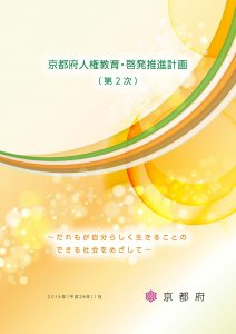 「京都府人権教育・啓発推進計画(第2次)」冊子表紙画像